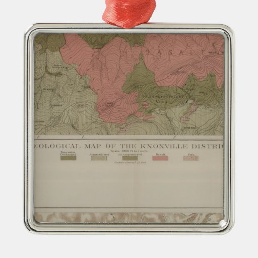 Geological Map of the Knoxville District Christmas Tree Ornaments