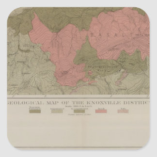 Geological Map of the Knoxville District Square Sticker