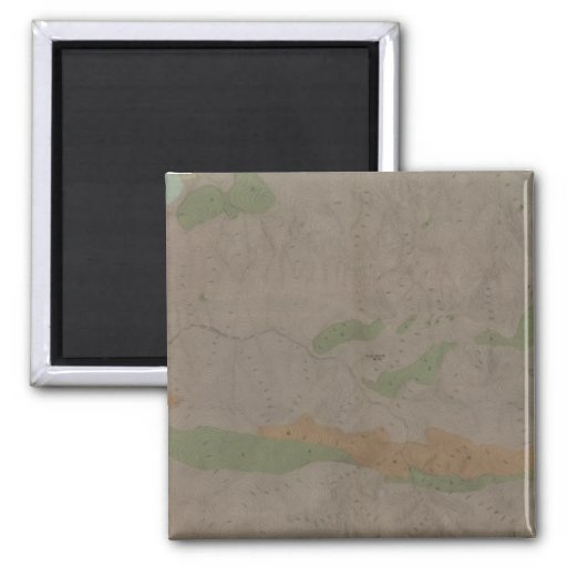 Geological Map of the New Almaden Mining District 2 Inch Square Magnet