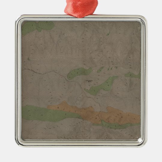 Geological Map of the New Almaden Mining District Metal Ornament