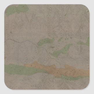 Geological Map of the New Almaden Mining District Square Sticker
