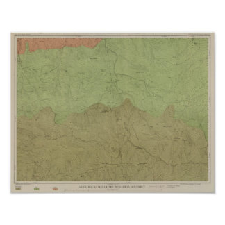 Geological Map of the New Idria District Poster