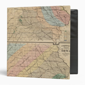 Geological map of the State of Iowa 3 Ring Binder