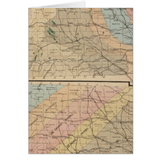 Geological map of the State of Iowa Card