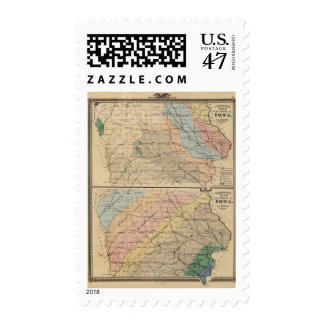 Geological map of the State of Iowa Postage