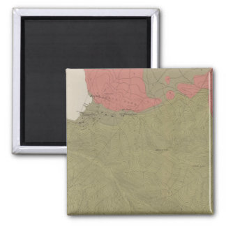 Geological Map of the Sulphur Bank District 2 Inch Square Magnet