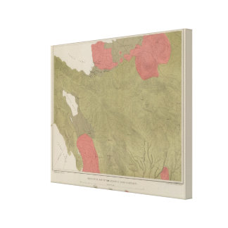 Geological Map of the Sulphur Bank District Canvas Print