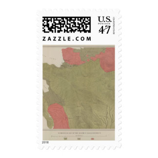 Geological Map of the Sulphur Bank District Postage Stamp