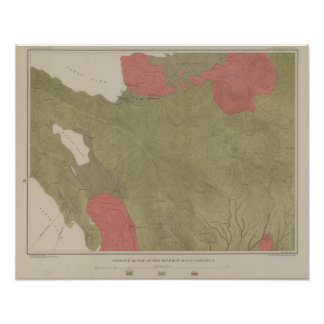 Geological Map of the Sulphur Bank District Poster
