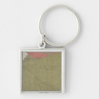 Geological Map of the Sulphur Bank District Silver-Colored Square Keychain