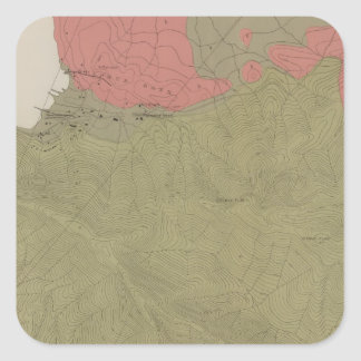 Geological Map of the Sulphur Bank District Square Sticker