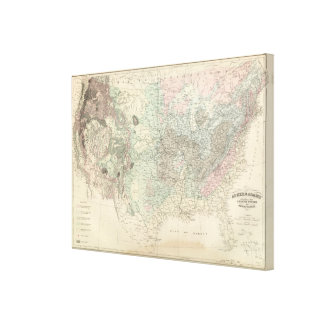 Geological Map of the United States 2 Stretched Canvas Print