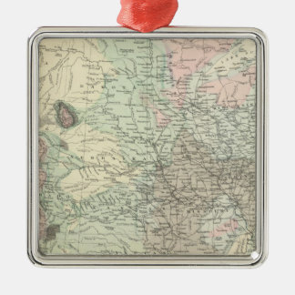 Geological Map of the United States Christmas Ornaments