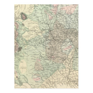 Geological Map of the United States Post Card