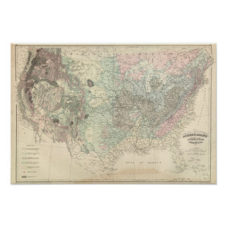 Geological Map of the United States Print