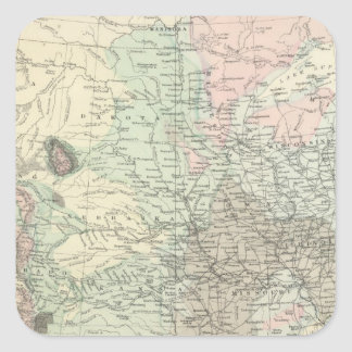 Geological Map of the United States Square Sticker