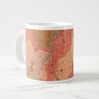 Geological Map of the Washoe District Large Coffee Mug