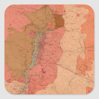 Geological Map of the Washoe District Square Sticker