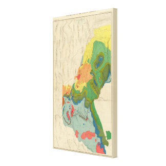 Geological Map Of The Western Part Canvas Print