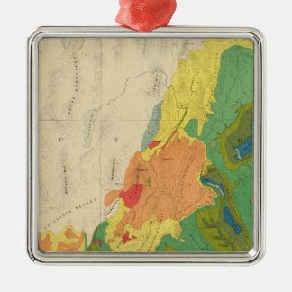 Geological Map Of The Western Part Metal Ornament