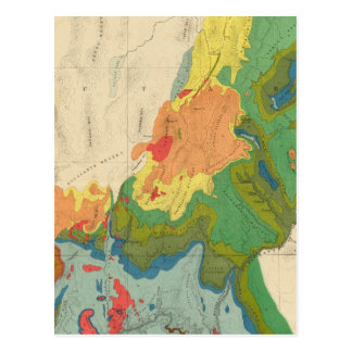 Geological Map Of The Western Part Postcard