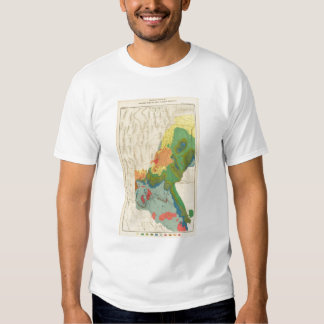 Geological Map Of The Western Part T-Shirt