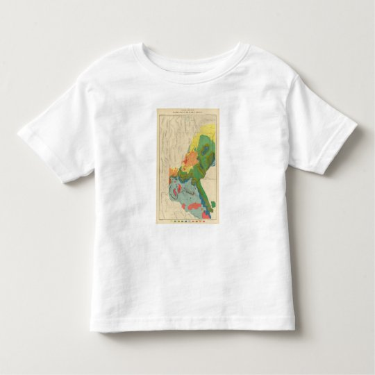 Geological Map Of The Western Part Toddler T-shirt