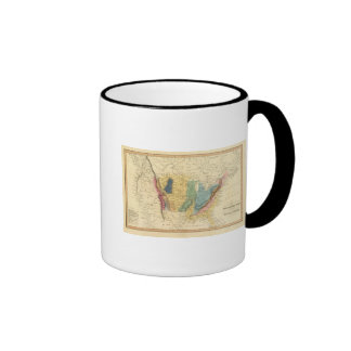 Geological map of United States Coffee Mug