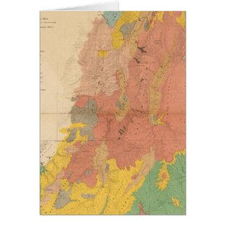 Geological map of Utah Card