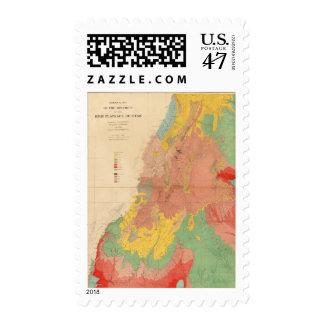 Geological map of Utah Postage