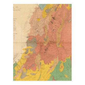Geological map of Utah Postcard