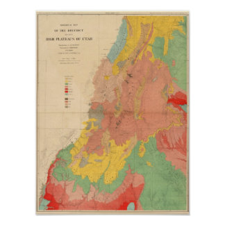 Geological map of Utah Poster