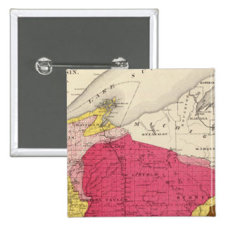 Geological map of Wisconsin Pin