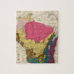 """Geological map of Wisconsin Jigsaw Puzzle<br><div class=""""desc"""">Geological map of Wisconsin. By Chamberlin,  Thomas Chrowder,  1842-1928 ; Snyder,  Van Vechten &amp; Co. (187). Published by &#39;&#39;Milwaukee: Snyder,  Van Vechten &amp; Co&quot;.</div>"""