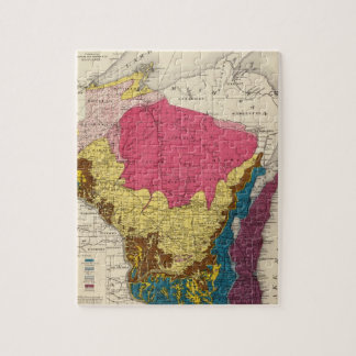 Geological map of Wisconsin Jigsaw Puzzle