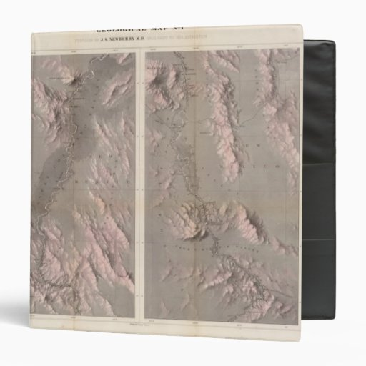 Geological Map Rio Colorado of the West Binders