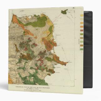 Geological map San Francisco 3 Ring Binder