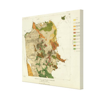 Geological map San Francisco Canvas Print