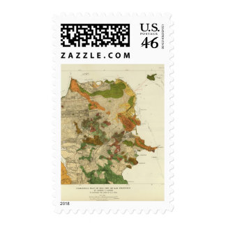 Geological map San Francisco Stamps