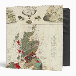 Geological, palaeontological map British Islands 3 Ring Binder