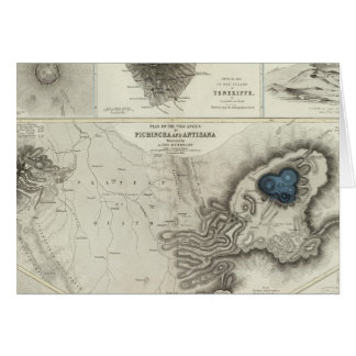 Geological phenomena greeting card