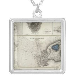 Geological phenomena silver plated necklace