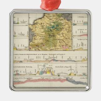 Geological profiles of Germany in general Metal Ornament
