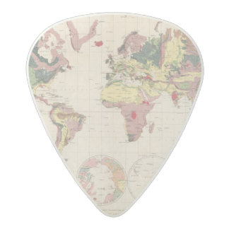 Geological structure of globe acetal guitar pick
