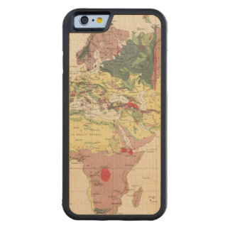 Geological structure of globe carved® maple iPhone 6 bumper case