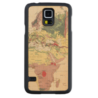 Geological structure of globe carved® maple galaxy s5 slim case