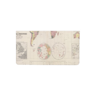 Geological structure of globe checkbook cover