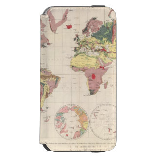 Geological structure of globe iPhone 6/6s wallet case