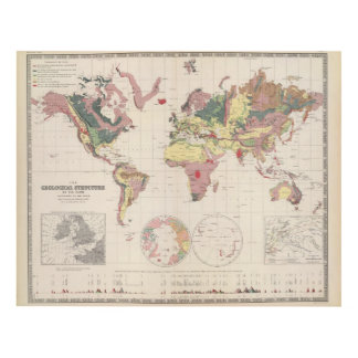 Geological structure of globe panel wall art