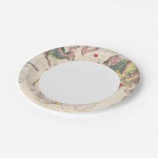 Geological structure of globe paper plate